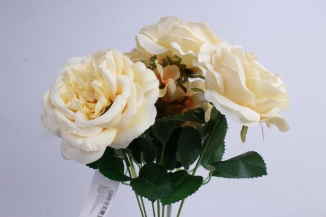 гортензия-роза букет 43 см кремовый liu355