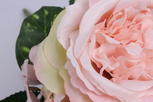 гортензия-роза букет 43 см розовый liu335