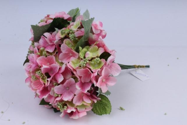 гортензия ветка 30 см (12 шт в уп) розовая liu286