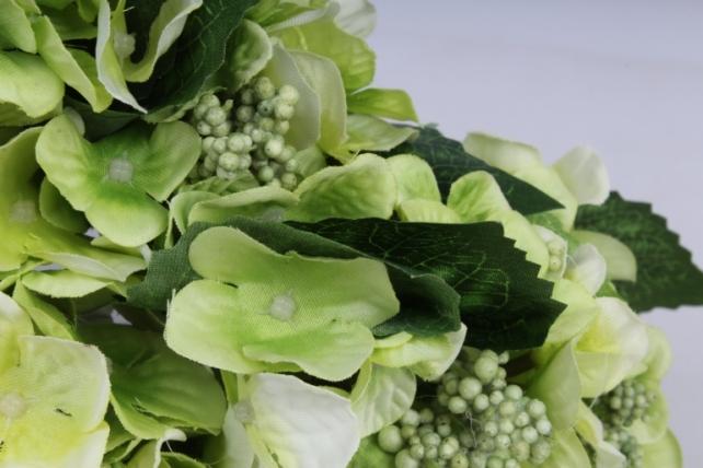 гортензия ветка 30 см (12 шт в уп) салатовая liu286