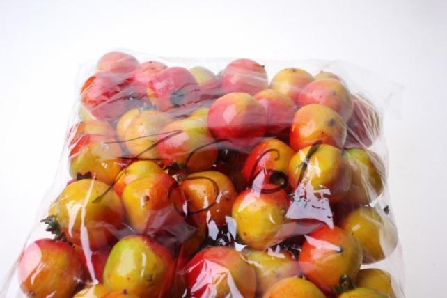 искусственные фрукты гранат искусственный 3 см красные (100шт в уп) 7661