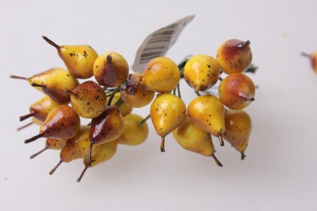 Груша желто-красная 1,2см (12 пучков по 12 шт) искусственные фрукты