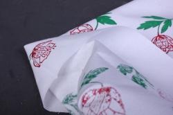 хлопок с ручной набойкой 50*50 см цветы