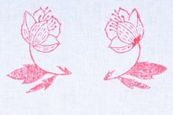 хлопок с ручной набойкой 50*50 см земляничка красная