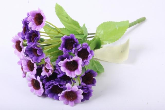 Хризантема фиолетовая букет 25см