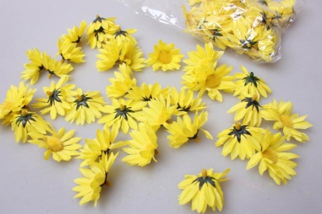 Хризантема желтая (головки) 3,5см (60шт в уп) 3169
