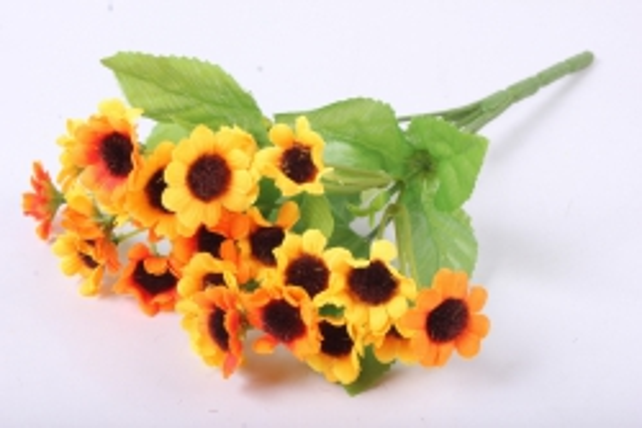 Хризантема оранжевая букет 25см