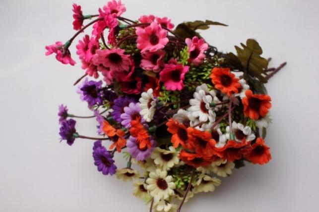 хризантема розово-малиновая (букетик) 25см