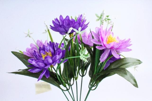 Хризантема с декором фиолетовые
