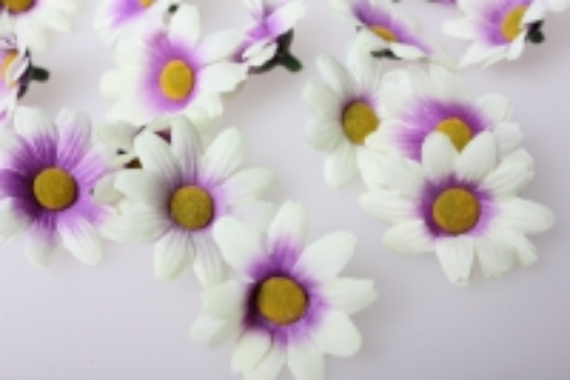 Хризантема сиреневая цветок 3,5см (60шт в уп) 312