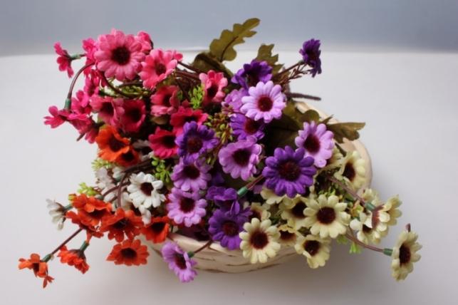 хризантема сиренево-фиолетовые (букетик) 25см