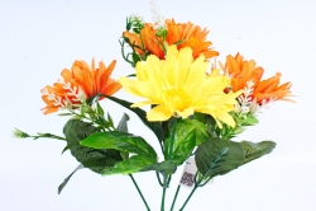 Хризантемы оранжевые