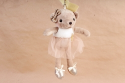 Игрушка для букета (АС) - Мишка балерина  бежевый