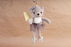 Игрушка для букета (АС) - Мишка балерина серый