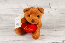 """Игрушка для букета (АС) - Мишка """"Любовь"""" коричневый"""