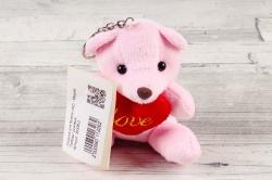 """Игрушка для букета (АС) - Мишка """"Любовь"""" розовый"""