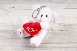 Игрушка для букета (АС) - Мишка с Сердцем белый