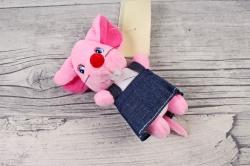 Игрушка для букета (АС) - Мышка в юбке розовая