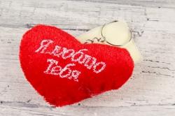 Игрушка для букета (АС) - Сердце красное 5см