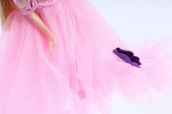 Игрушка для букета (Г) - Кукла-1 с бантиком розовая   арт. 55-S-2