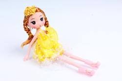 Игрушка для букета (Г) - Куклы-5, Желтая 17*5см, арт.55S-2-2