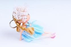 Игрушка для букета (Г) - Куклы-6, Голубая с фатой 17*5см, арт.55S-2-3