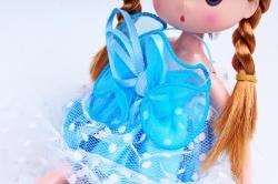 Игрушка для букета (Г) - Куклы-5, Голубая 17*5см, арт.55S-2-2