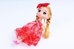 Игрушка для букета (Г) - Куклы-11, Красная с кружевом 17*5см, арт.55Т-1