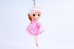 Игрушка для букета (Г) - Куклы-6, Розовая с фатой 17*5см, арт.55S-2-3
