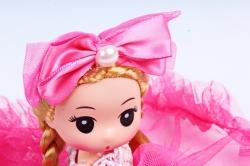 Игрушка для букета (Г) - Куклы-8, С Бабочкой розовая  24*5см, арт.55S-1-1