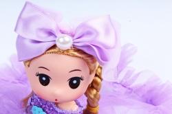 Игрушка для букета (Г) - Куклы-8, С Бабочкой сиреневая  24*5см, арт.55S-1-1