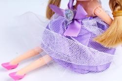 Игрушка для букета (Г) - Куклы-6, Сиреневая с фатой 17*5см, арт.55S-2-3