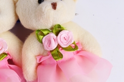 Игрушка для букета (Г) - Мишка 9см, Розовый   арт. 55-Р  (3шт/уп)