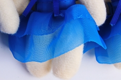 Игрушка для букета (Г) - Мишка 9см, Синий   арт. 55-Р  (3шт/уп)