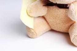 Игрушка для букета (Г) - Мишки-17 бежевый 10*10см, арт.АС186