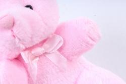 Игрушка для букета (Г) - Мишки-43, розовый брелок , арт. 867-3