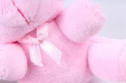 Игрушка для букета (Г) - Мишки-11, розовый брелок   арт. 111