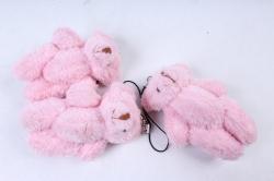Игрушка для букета (Г) - Мишки-21, розовый  арт. А42  (3шт/уп)