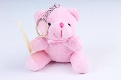Игрушка для букета (Г) - Мишки-17 розовый 10*10см, арт.АС186