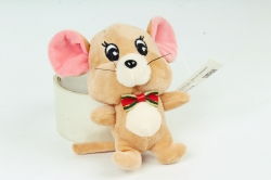 Игрушка для букета (Г) - Мышь Джерри бежевая 13см Арт.666-12