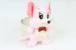 Игрушка для букета (Г) - Мышь Джерри розовая 13см  Арт.666-12