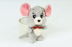 Игрушка для букета (Г) - Мышь Джерри серая 13см  Арт.666-12