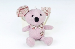 Игрушка для букета (Г) - Мышь с блестками розовая 11/15см  Арт.666-36