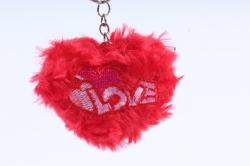 Игрушка для букета (Г) - Сердце красное брелок  арт. А10-9