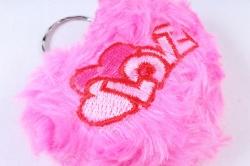 Игрушка для букета (Г) - Сердце розовое брелок  арт. А10-9