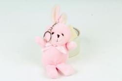 Игрушка для букета (Г) - Заяц розовый 11/19см  Арт.666-3