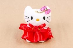 Игрушка для букета (Г) -Кошечка  красная10см, Арт.666-7
