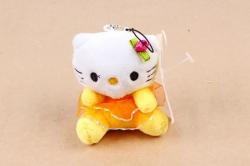 Игрушка для букета (Г) -Кошечка  в платье жёлтая Арт.666-8