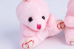 Игрушка для букета (Г) - Зайчики-7 розовые  арт. 6-14  (3шт/уп)