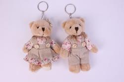 Игрушка для букета - Медведь в льняной одежде (2 шт в уп) Т22